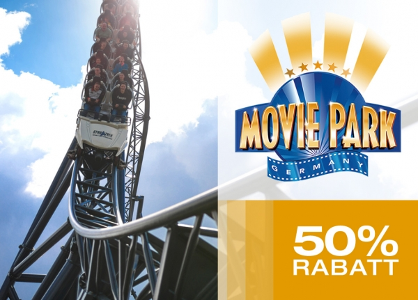 Movie Park – Tagesticket 50% günstiger