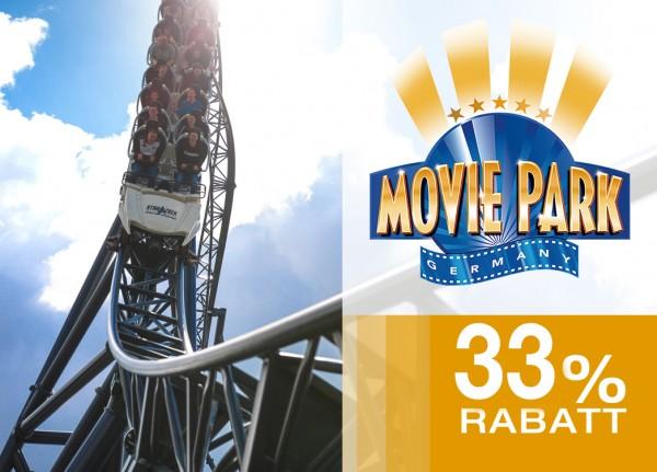Movie Park – Tagesticket 33% günstiger